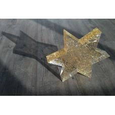 PLEXIGLAS® Stern mit eingegossenem Goldstaub